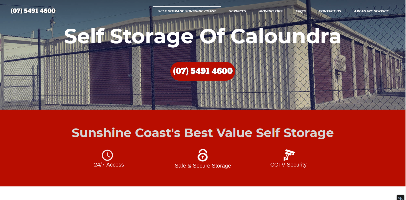Web Design Self Storage Of Caloundra